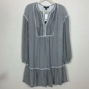 BANANA REPUBLIC Stripped Peasant Tunic Dress Sz M